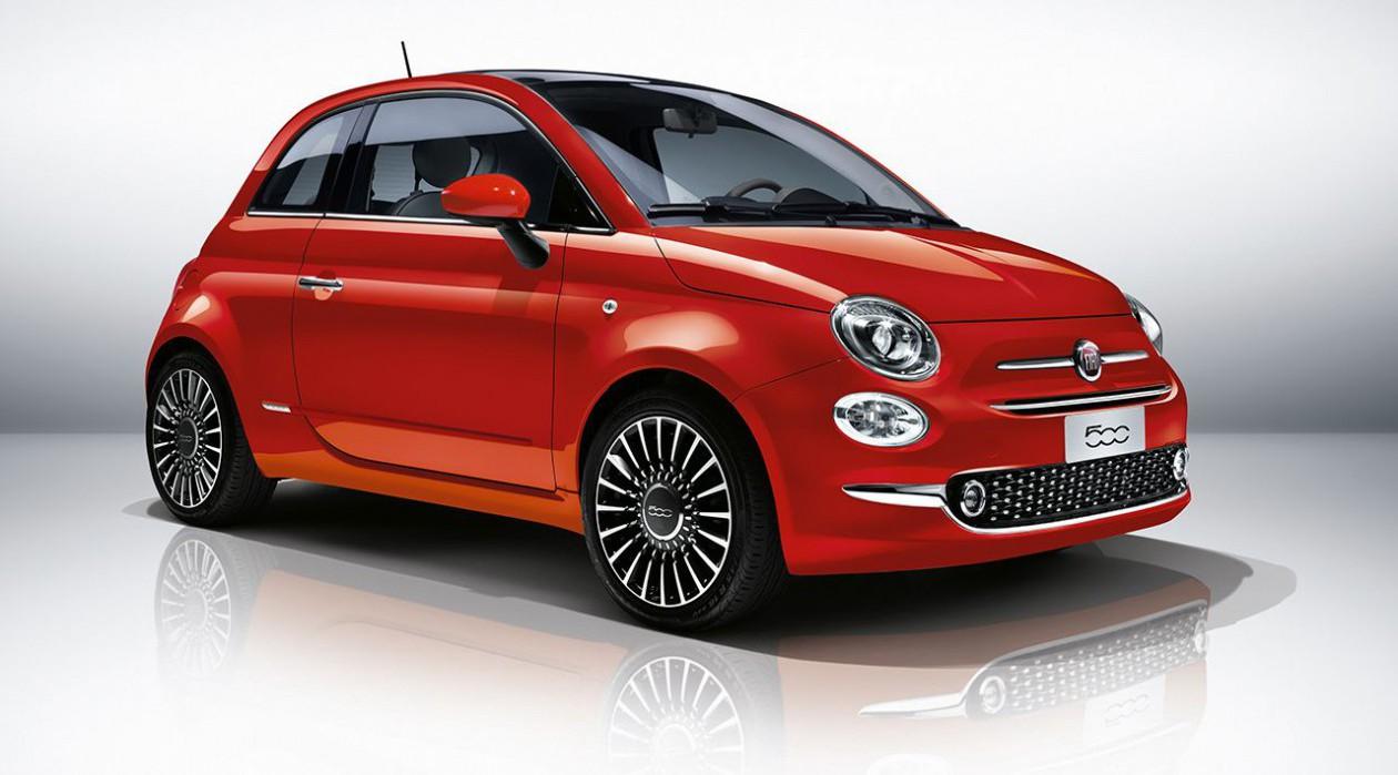 Fiat 500 raudonas